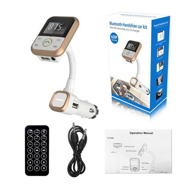 Wireless Bluetooth Handsfree Car Kit FM Transmitter Radio MP3 Music USB Charger