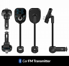 Travel Bluetooth FM Transmitter Car Charger Kit With MP3 Radio SD Card Function,