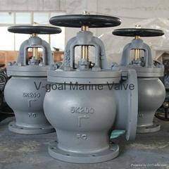JIS Marine Valve Cast Iron GlobeAngle Valve 5K 10K 16K