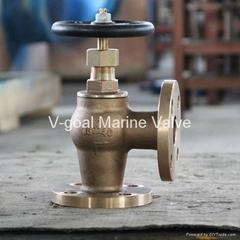 JIS Marine Bronze Globe Angle Valve 5K 16K