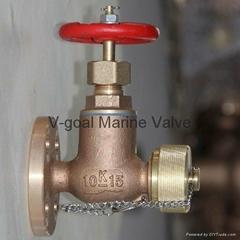 JIS Marine Bronze Globe Angle Hose Valve 5K 10K