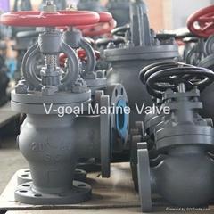 JIS Marine Cast Steel Check Globe Angle Valve 5K 10K 20K