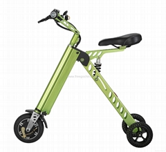"china factory market smart 8"" three-wheel light weight folding electric bike"