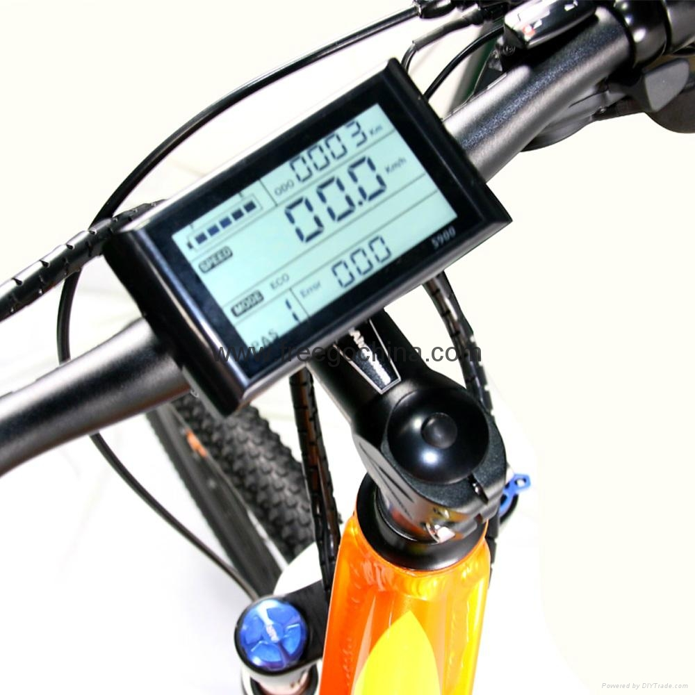 "full suspension 27"" 2-wheel electric mountain bike electric bicycle 5"