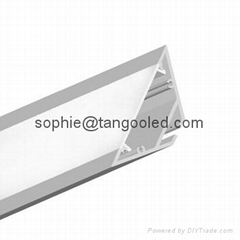 triangle Aluminum Profile for corner led lighting