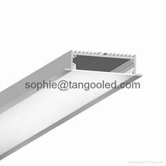 wide led profile extrusion aluminum profile light recessed profile