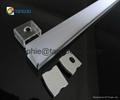 Flat aluminum profile surface mounted