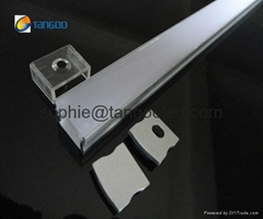 Flat aluminum profile surface mounted led profile