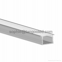 Aluminum led profile, recessed aluminum bar for led light