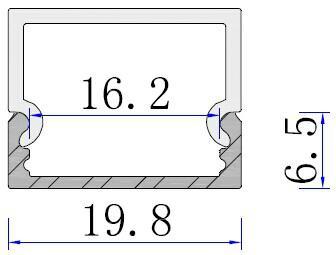 Aluminum light fixture, Led Light Bar Profile 5