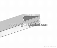 Recessed aluminum profile extrusion channel for led lighting