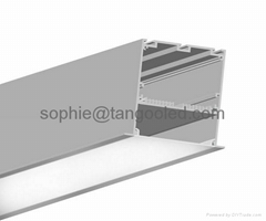 high large big size aluminum led profile for ceiling recessed