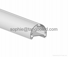 Pendent fitting aluminum channel round shape, led aluminum profile