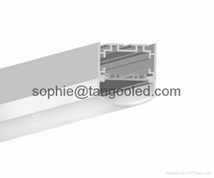silvery black white aluminum profile with pc cover for wide led strips