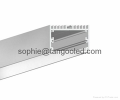 square aluminum led track channel led linear lighting extrusion profile