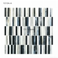 Colorful Black and White Floor Tile Wholesale Glass Mosaic