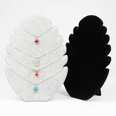 Velvet Jewelry Ring Necklace Earring Display Stand Rack Jewellery Holder