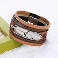 feather cortical layers personality ultra wide magnetic buckle bracelet bangles 5