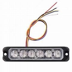 汽車6LED爆閃警示燈12V高亮頻閃側邊燈警車摩托車警示燈