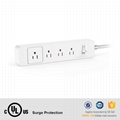 USA Power Strip 4 AC outlets Power Surge Protector Smart Extension Sockets for S 2