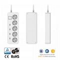 GS listed Europe smart power socket usb power strip extension socket for mobile  2