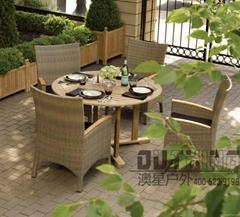 Aluminum Frame Woven Rattan Wood Outdoor Furniture