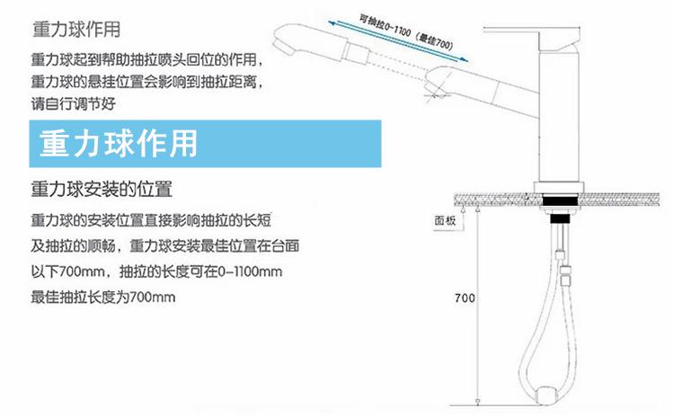 藝正衛浴供應抽拉龍頭用的重力球配重塊 3