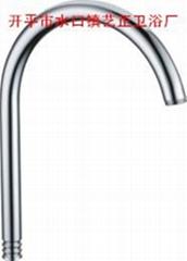 艺正卫浴供应水龙头不锈钢镀铬出水管18中伞垂直咀