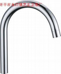 藝正衛浴供應水龍頭不鏽鋼鍍鉻出水管24傘柄冷熱