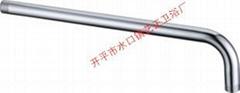 艺正弯管供应水龙头不锈钢镀铬单七入墙出水管