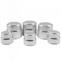 15g 50g silver cosmetic jars 1