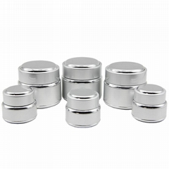 15g 50g silver cosmetic jars