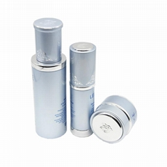 luxury empty skin care metal cosmetic packaging bottles set