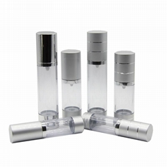 wholesale 15ml 60ml new sealing type luxury pp airless cosmetic packaging glass