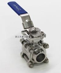 Q61F-1000WOG三片式卫生级高平台对焊球阀