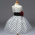 Black and white flower princess girl dress 1