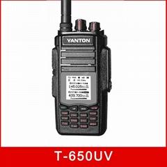 T-650UV 999channels 10w Dual Band FM UHF VHF walkie talkie
