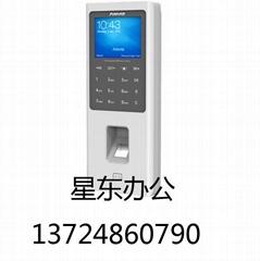 安威士W2指紋ID刷卡密碼考勤門禁一體機