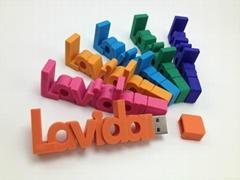 3D创意字体U盘