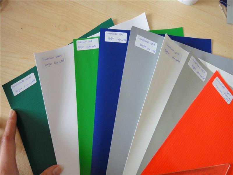 2017 new knife coated heavy duty PVC tarpaulin fabric roll 1