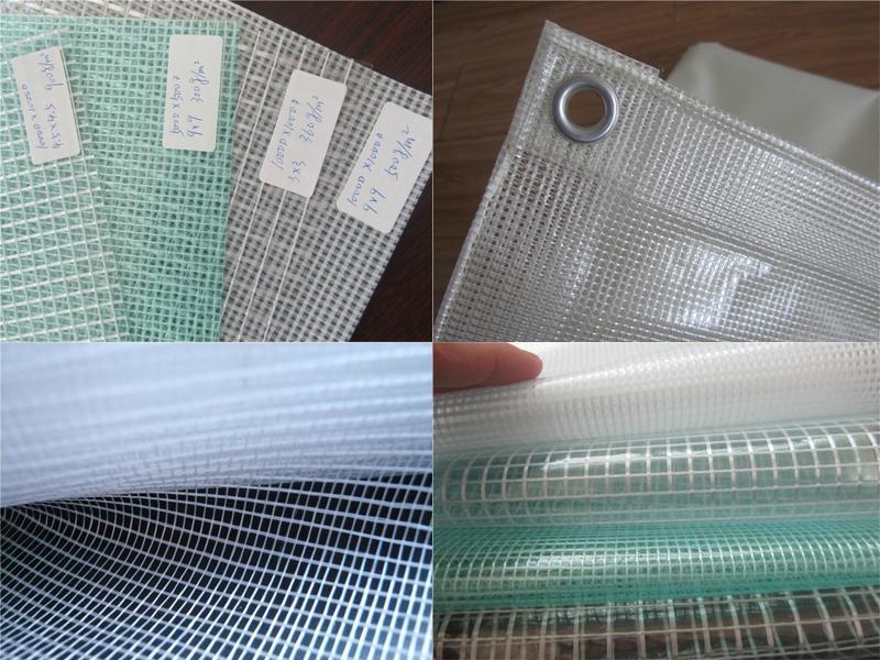 2017 new si  er white 1000D 18*18 mesh PVC tarpaulin for truck cover 4