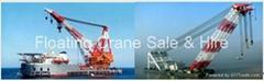 Floating Crane barge Sale Rent Britain UK Ireland Holland Belgium France hire