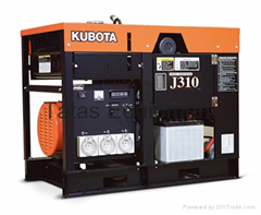 Kubota Diesel Generator J Series 2-Pole Single and Three Phase