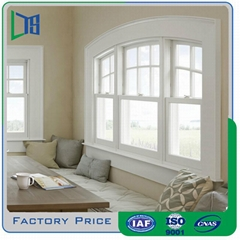 Aluminium double hung vertical sliding window for residential used