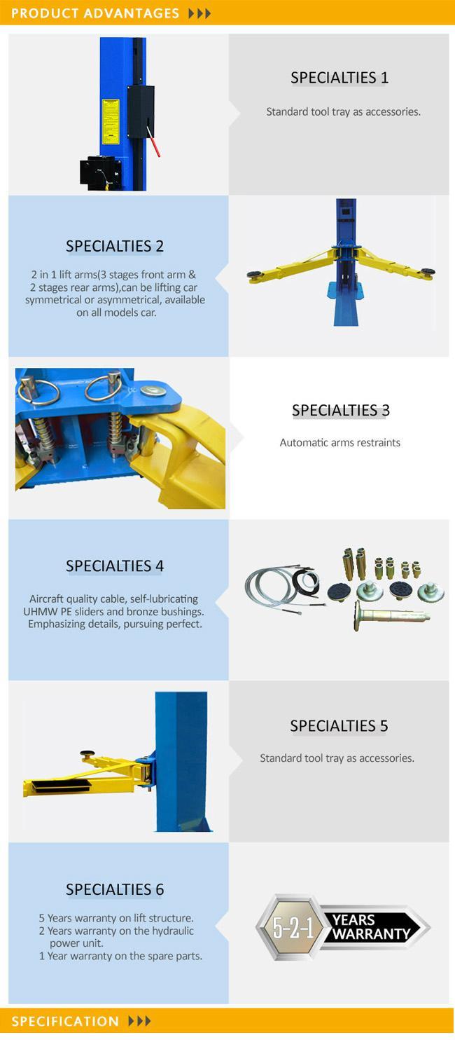 Super Symmetric Hydraulic Workshop 2 Post Car Lift (209X) 3