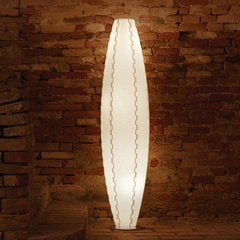 talian Design Table Lamps: Table lamp in pearl sandylex Signorapina Medium
