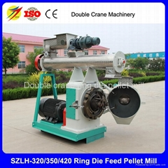 Double crane 2-8t/h chicken feed pellet mill for poultry farm best quality