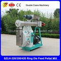 Double crane 2-8t/h chicken feed pellet mill for poultry farm best quality  2