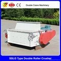 Double roller crusher price poultry feed pellet crushing machine 1