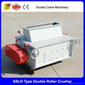Double roller crusher price poultry feed pellet crushing machine 2
